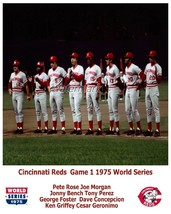 MLB 1975 World Series Cincinnati Reds Starting Line Up Color 8 X 10 Phot... - $5.99