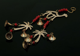 Camel & Coconut Tree Chime With Polished Brass Bells About 15 Inch String - $11.29