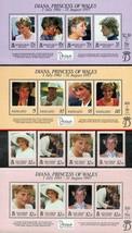Vanuatu/Virgin È Solomon È 1998 Principessa Diana + 3 S/S come Nuovo Nh - $9.72