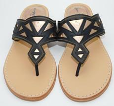 Sam Edelman Treva Leather Sandals Black/Pewter Size 7 1/2 NIB - $42.74