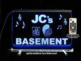 Personalized Man cave Basement sign, Custom Lighted sign, Home Bar decor... - $96.03+