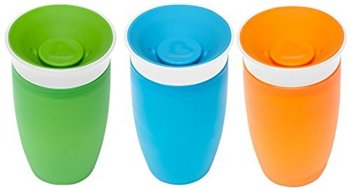 Munchkin Miracle 360 BPA Free Sippy Cup 10 ounce, 3 Count Green Blue Orange