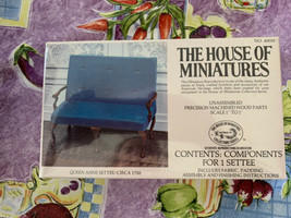Dollhouse House of Miniatures Queen Anne Settee Circa 1730 40055 New Sealed - $22.99