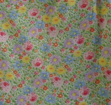 Vintage Burlington Twin Flat Sheet Only Floral No Iron Percale Spring - $19.75