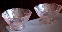 2--pink Depression Glass American Sweetheart footed sherbets - $19.99