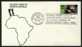 World War II 50th Anniv., Allies Land in N. Africa [1] **ANY 4=FREE SHIP... - $1.00