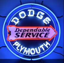 Dodge Dependable Service Neon Sign / Dodge Neon Sign / Dodge Signs / *Gas & Oil - $350.00