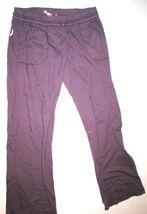 EUC Womens Large Juicy Couture Pants Purple L Pockets Skull Wings Logo 32 inseam image 3
