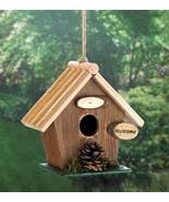 10018414 SHIPS FREE Songbird Valley Pinecone Wood Birdhouse - $15.47