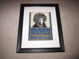 Framed Jimi Hendrix/Blue Cheer/Electric Flag Tour Poster, 1968, Beautifu... - $27.16