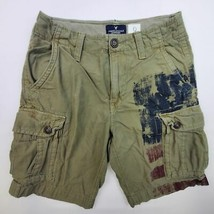 Men's American Eagle Outfitters Classic Fit American Flag Cargo Shorts - $19.95