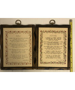 wooden wall hanging mother  & Father poem - $11.30