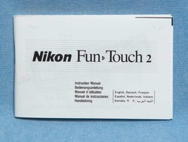 Nikon Fun Touch 2 35mm Camera Manual Only dq - $4.94