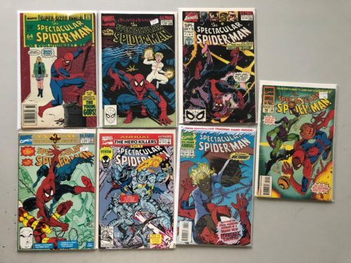 Lot of 7 Spectacular Spider-Man (1976 1st Series) Annual #6 9-14 VF Very Fine
