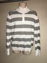 Express Sweater Mens Large Gray Striped NWD see details - $17.42