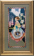 Mirabilia Cross Stitch Pattern Girl Gathering Eggs MD49 by Nora Corbett NIP - $14.49