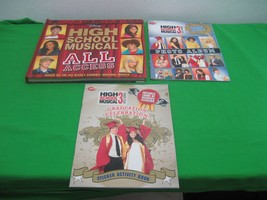 Set of 3 High School Musical 3 Disney Poster Photo Album & Stickers Books - $15.85