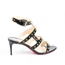 Christian Louboutin Sexystrapi 70mm Studded Sandals SZ 37.5 - $605.00