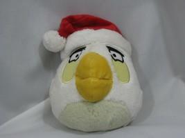 Angry Birds Matilda Xmas Santa Hat Plush Doll Commonwealth 2011 NO Sound - $14.84