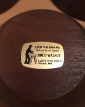 Set of 3 70s Ozark solid walnut salad bowls image 5