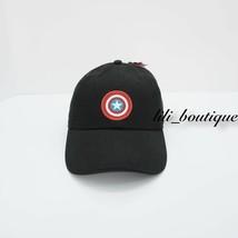 NWT VANS MARVEL Captain American Shield Hat Cap Strapback Adjustable Bla... - $22.95