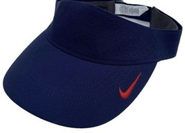 Nike Aerobill Visor Lightweight Navy Red NFL Swoosh OSFA Golf Fishing Fo... - $24.01
