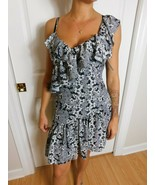 Parker Flower Print Asymmetrical Ruffled Dress Size Small NWT  - $74.25