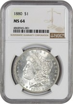 1880 $1 NGC MS64 - Morgan Silver Dollar - $140.65