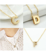 Fashion Gold Initial Charms Necklace Pendant Metal Letters For Jewelry P... - $9.74