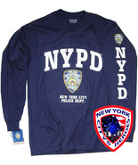 NYPD T-SHIRT NAVY BLUE LONG SLEEVE OFFICIALLY LICENSED BY NEW YORK CITY - $19.99