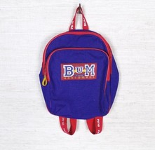 Vintage 90s BUM Sport Equipment Spellout Logo Travel Mini Backpack Black... - $30.26 CAD