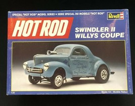 Vintage 1989 Revell Swindler ll Willys Coupe Hot Rod Model Incomplete-Fo... - $12.76