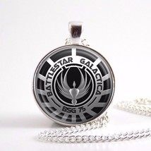 2017 New Battlestar Galactica Pendant Glass Dome Necklaces Pendants Silver Vinta - $7.94