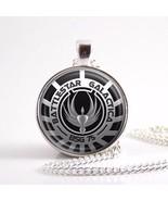 2017 New Battlestar Galactica Pendant Glass Dome Necklaces Pendants Silv... - $7.94