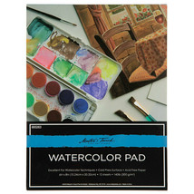 """Master's Touch Watercolor Pad, 9"""" x 12"""", 12 Sheets, 140lb"""