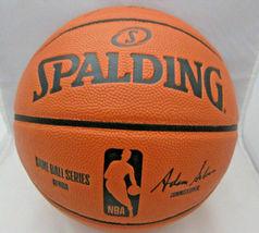 KAWHI LEONARD / L.A. CLIPPERS / AUTOGRAPHED FULL SIZE NBA LOGO BASKETBALL / COA image 3