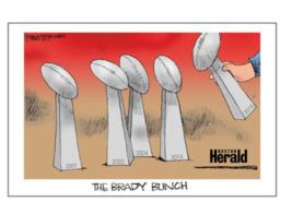 """Patriots Super Bowl 5X  Tom Brady """"The Brady Bunch Poster""""  11 X 17 - $26.72"""