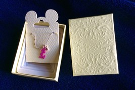 Mickey Mouse Pink Necklace Authentic Original Disney Theme Parks Merchandise - $11.64