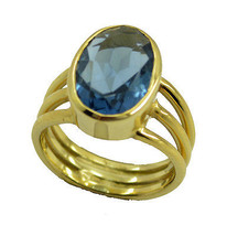 charming Blue topaz CZ Gold Plated Blue Ring suppiler US 6,7,8,9 - $7.04