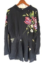 NWT FREE PEOPLE Women's Blac Mock Neck Long Sleeve Open Back Gemma Tunic... - $80.03