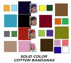"LOT of 12 MIXED SOLID COLOR 22"" BANDANA Cotton Bandanna Head WRAP Scarve... - $31.99"