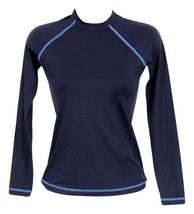 J Crew Women's Sun Shirt Long Sleeve Swimsuit Navy Sz XXXS 38755 - $36.79