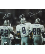 Dallas Cowboys Triplets Autographed 16x20 Photo Troy Aikman, Emmitt Smit... - £341.28 GBP+