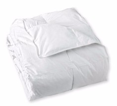 CLASSIC DOWN FULL QUEEN COMFORTER White  650 FILL POWER  Cotton Hypoalle... - £103.49 GBP