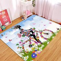 3D Bike Girl 20 Non Slip Rug Mat Room Mat Quality Elegant Photo Carpet U... - $106.68+