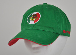 21dd54866 MEXICO Reebok STRAPBACK Ball CAP Hat GREEN Soccer Futbol FLAG Red White ...  -
