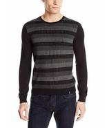 Calvin Klein Mens Sweater Sz S Black Gray Multi Color Light Casual Mens ... - $39.53