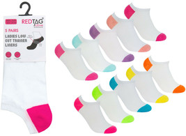 Ladies Cushion Sole Trainer Socks Womens 10 Pairs Pack By Red Tag NEW - $12.86