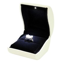 Jewel case ring color white with lighting led - $20.45