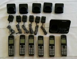 Panasonic KX-TG7621 B Bluetooth 6.0 (6) Cordless Phones Caller ID KX-TGA... - $54.44